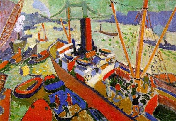 "Андре Дерен ""Темза у Лондонского моста""."