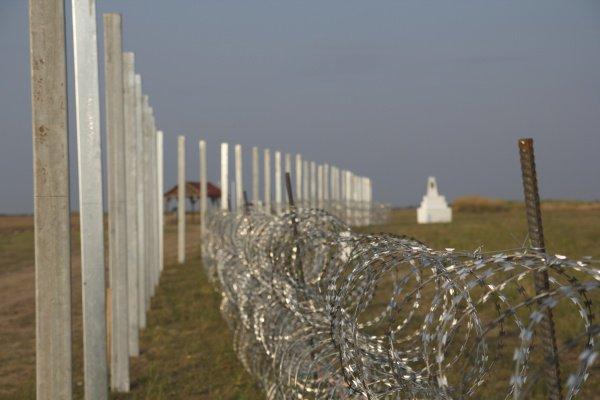 Стена на венгерско-сербской границе.