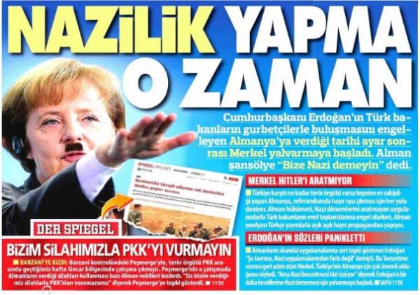 Ангела Меркель в турецкой прессе.