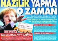Турецкая пресса назвала Ангелу Меркель «Гитлером в юбке»