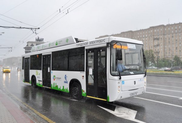 «КАМАЗ» представил электробус, который может заряжаться всего за15 мин.