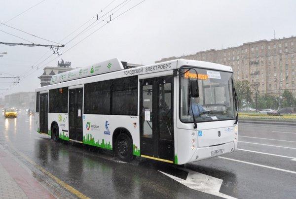 «КАМАЗ» представил электробус, который заряжается 15 мин.