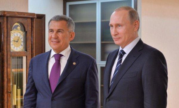 Р.Минниханов и В.Путин.