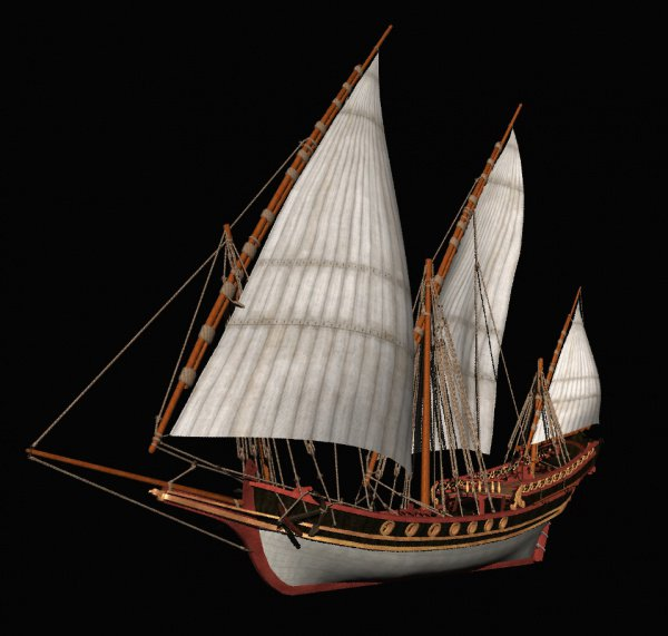 Модель арабского морского судна