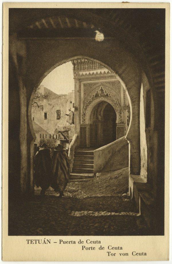 Открытка «Город Тетуан – город-крепость», 1912-1956.