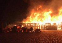 Во Франции сгорел лагерь мигрантов