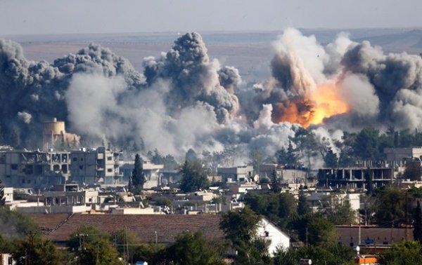 Авиаудары коалиции США в Сирии и Ираке.