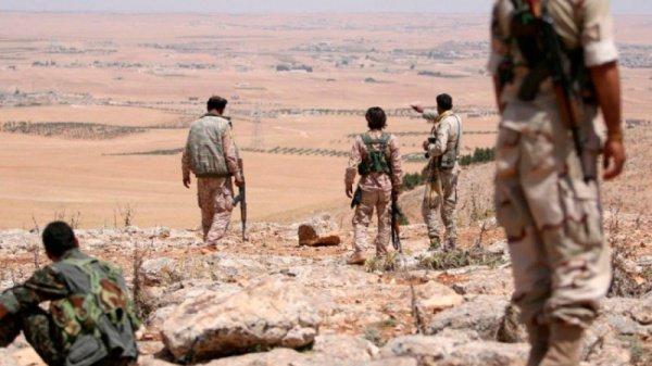 Курдские отряды в провинции Ракка.