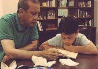 Фото, на котором Эрдоган учит внука Корану, растрогало интернет-пользователей
