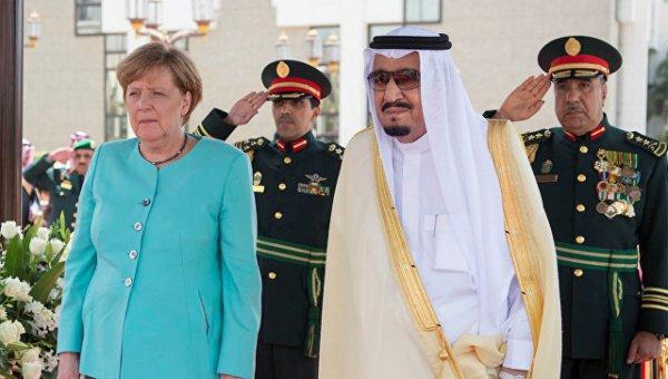 Канцлер Германии и король Саудовской Аравии.