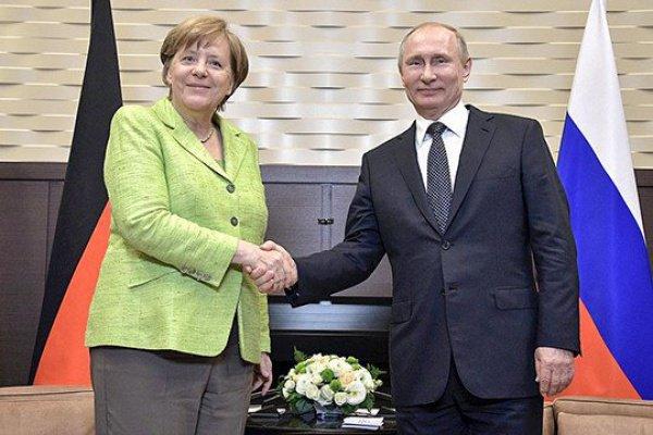 Встреча Ангелы Меркель и Владимира Путина.