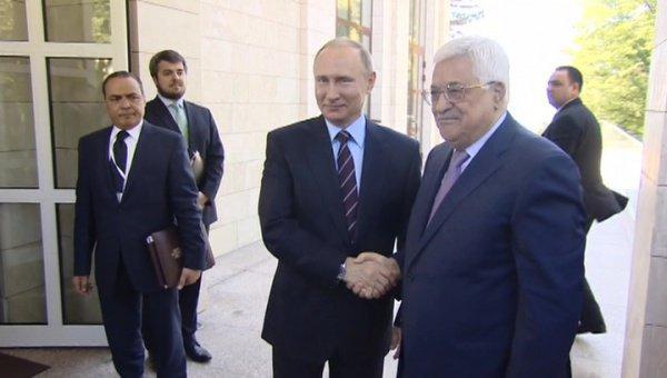 Переговоры Путина и Аббаса.