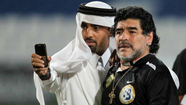 Диего Марадона в ОАЭ.