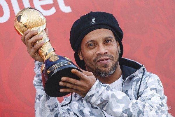 Роналдиньо признался, что он рад быть в Казани