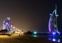 В Дубае открыли ночной пляж (Видео)