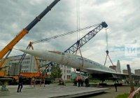 В Казани начали устанавливать Ту-144 на постамент (ФОТО)