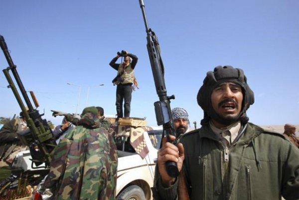 Боевики в Ливии.