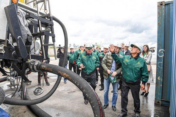 Рустам Минниханов принял участие в запуске обновленного цеха локальной очистки промышленных сточных вод