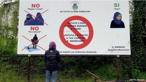 Запрет паранджи в Норвегии.