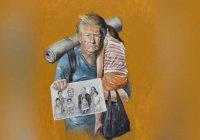 Сирийский художник нарисовал Трампа и Меркель в образе беженцев (Фото)