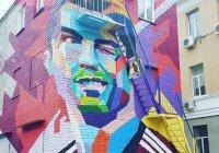 В Казани появился трехэтажный портрет Криштиану Роналду (ФОТО)