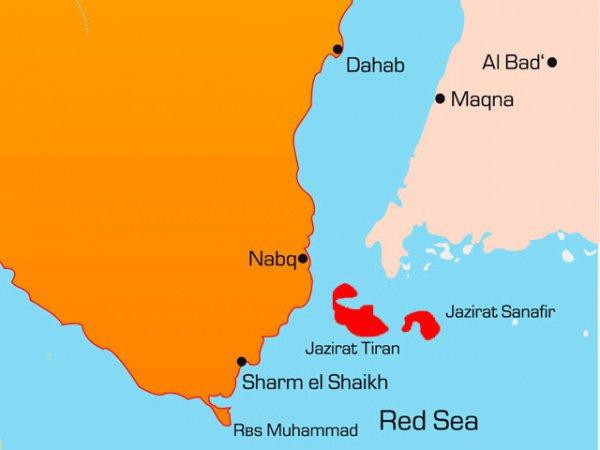 Два необитаемых острова на Красном море: Тиран и Санафир