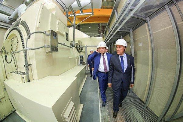 Минниханов на Казанской ТЭЦ-3 запустил самую мощную на территории России газотурбинную установку