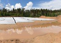 На Лебяжьих озерах в Казани началась гидроизоляция дна