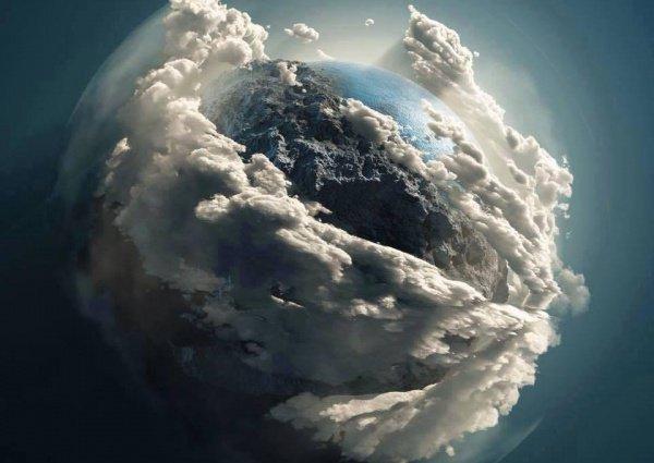Сначала Аллах Всевышний создал землю. Затем Аллах создал небеса и расположил их над водой