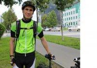 Татарстанец поехал на велосипеде в Крым