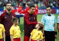 Роналду расписался на спине казанского мальчика (ФОТО)