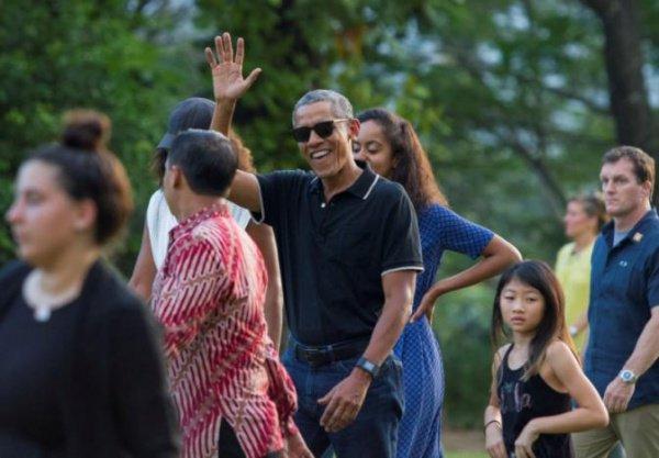 Барак Обама на отдыхе в Индонезии.