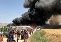 В Ливане сгорел лагерь сирийских беженцев, есть жертвы