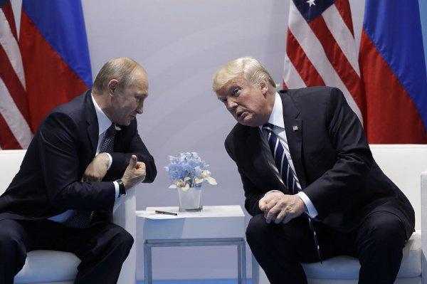 Путин и Трамп на встрече с рамках саммита G20.