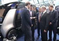 Владимир Путин оценил беспилотный микроавтобус «КАМАЗ»