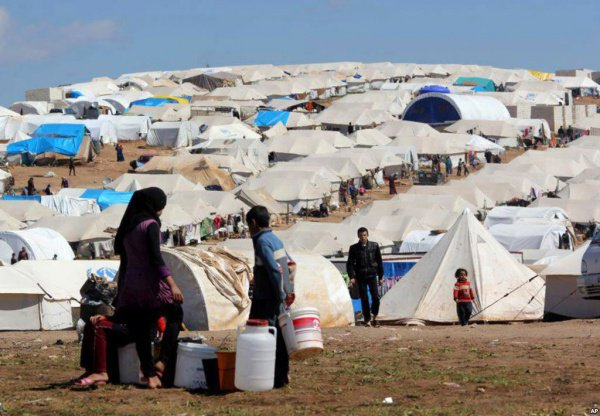 Сирийские беженцы в Иордании.
