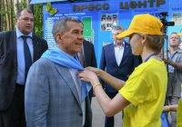 Минниханов открыл полевую олимпиаду юных геологов