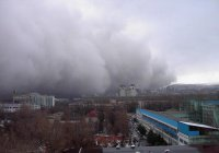 По Казахстану пронесся мощный ураган (Видео)