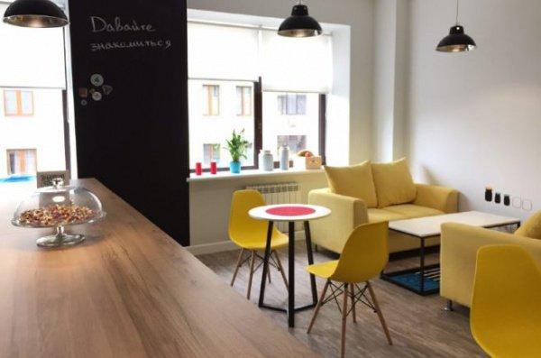 Кроме рабочего пространства на территории коворкинга есть кухня, зона отдыха и 4 кофе-поинта