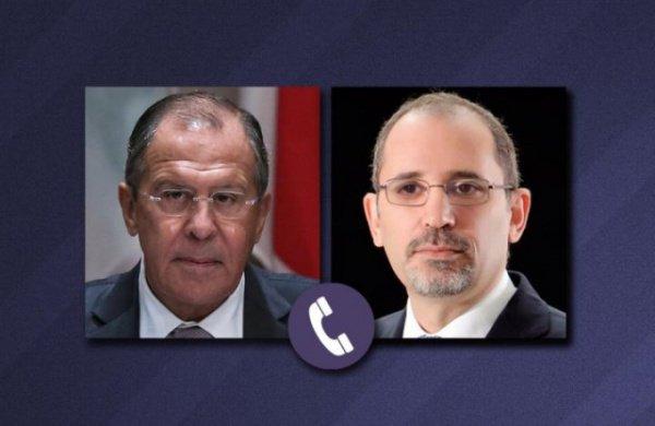 Телефонные переговоры глав МИД России и Иордании.