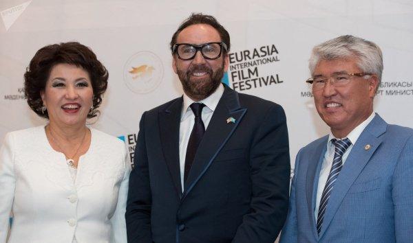 Кейдж посетил Астану в качестве почетного гостя тринадцатого Международного кинофестиваля «Евразия».