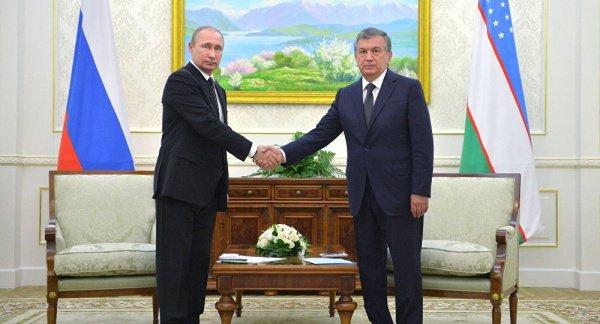 Путин потелефону поздравил сюбилеем президента Узбекистана