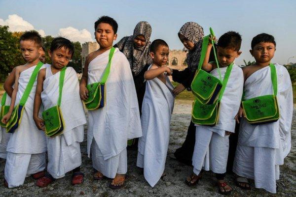 Как выглядит детская версия хаджа?