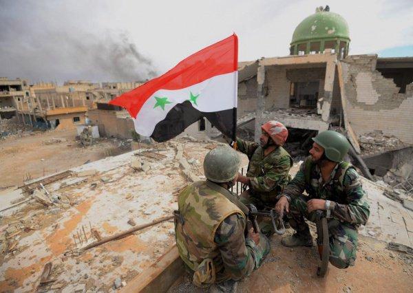 Военнослужащие сирийской армии.