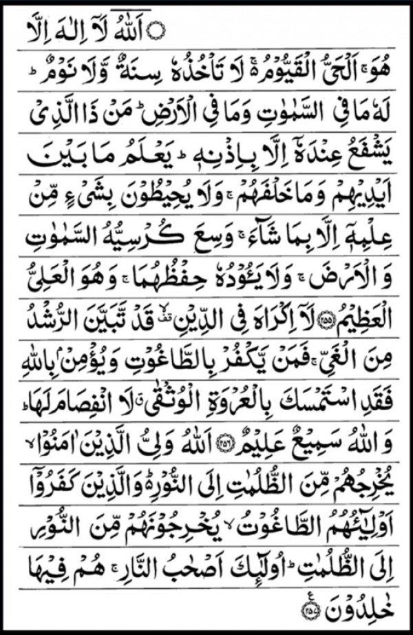 Тот, кто прочитает эти десять аятов утром, будет защищен от шайтана до самого вечера...