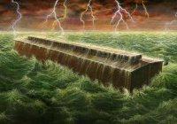 Когда Нух открыл дверь ковчега, то увидел, что вся земля была белой...