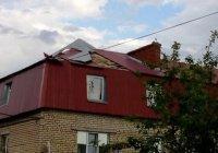 В Татарстане ветер сорвал крыши с 20 домов (ФОТО)