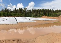 Гидроизоляция дна Лебяжьего озера выполнена на 70%