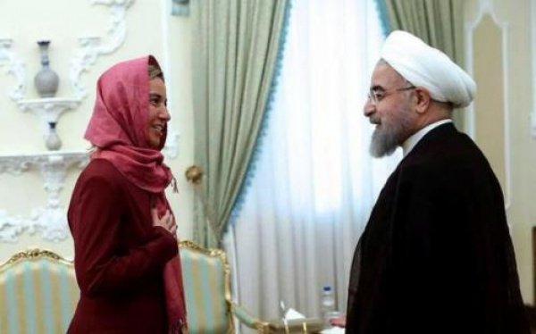 Федерика Могерини на встрече с Хасаном Роухани.
