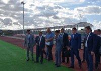 Минниханов ознакомился со строительством стадиона в Нурлате